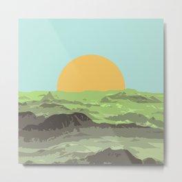 green mountains at july Metal Print