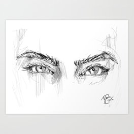 Eye of the Past Art Print