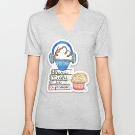 Cupcake Logo with Shadow Unisex V-Neck