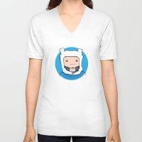 finn V-neck T-shirts featuring Finn by Shay Bromund