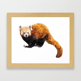 POLYGON RED PANDA Framed Art Print