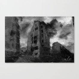 War Torn City V3 Canvas Print