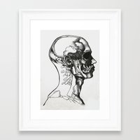 anatomy Framed Art Prints featuring Anatomy  by Cjillustrations