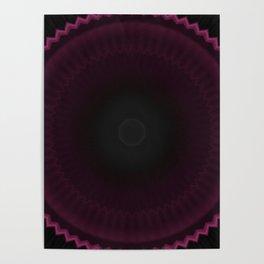 Dark Burgundy Dusk Mandala Poster