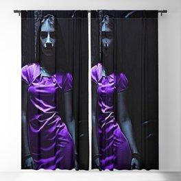 Girl in Purple Blackout Curtain