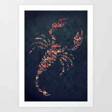 The Pattern Scorpio Art Print