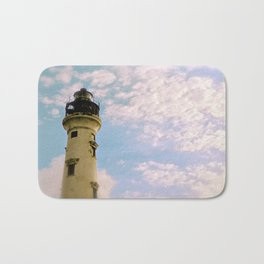 Cloudy at the Lighthouse Bath Mat