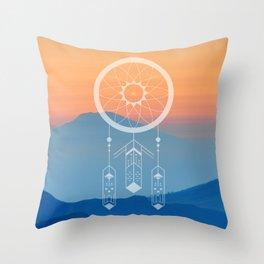 Dreamcatcher Mountains Throw Pillow