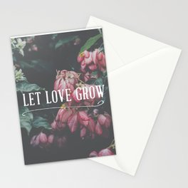 Let Love Grow Stationery Cards