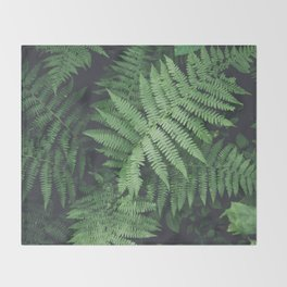 Fern Bush Nature Photography | Botanical | Plants Throw Blanket