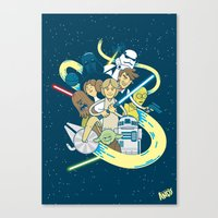 starwars Canvas Prints featuring StarWars by ANDY