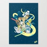 starwars Canvas Prints featuring StarWars by 2BROS
