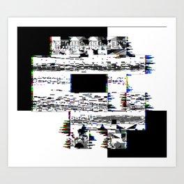 8-Bit Skull Art Print