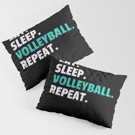Eat Sleep Volleyball Gift Player Coach Mom Pillow Sham