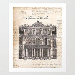 Chateaux de Versailles Art Print