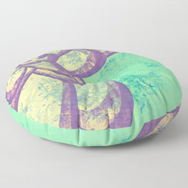 Purple & Green Flower Floor Pillow