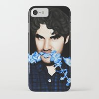 darren criss iPhone & iPod Cases featuring Darren Criss by weepingwillow