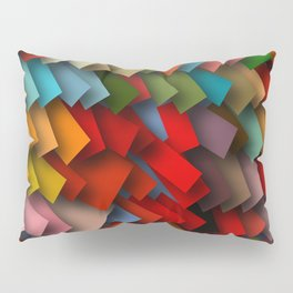 colorful rectangles with shadows Pillow Sham