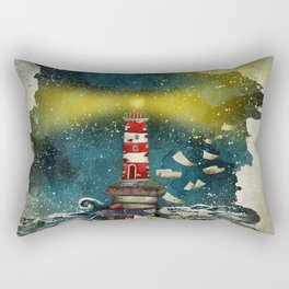the sea is poetry Rectangular Pillow