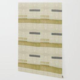 """Burlap Texture Natural Shades"" Wallpaper"