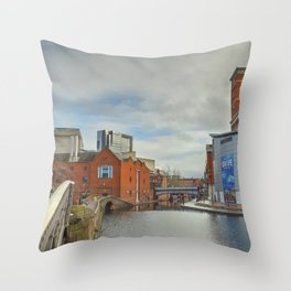 Birmingham Mainline Canal Throw Pillow
