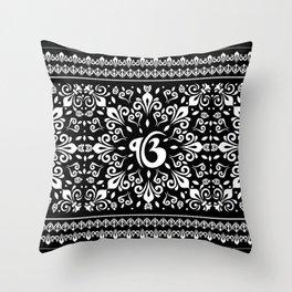 Ek Onkar / Ik Onkar Black and white #5 Throw Pillow