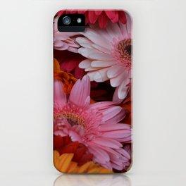 Gerbera Flower Bunch iPhone Case