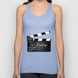 Our Wedding Clapperboard Unisex Tank Top