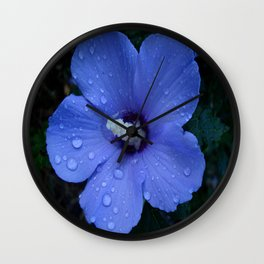 Blue Rose of Sharon II Wall Clock