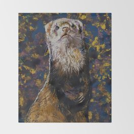 Regal Ferret Throw Blanket