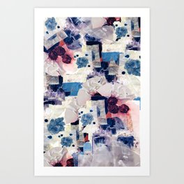patchy collage Art Print