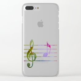 Musical Note A Clear iPhone Case