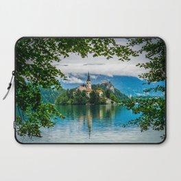 A Church on a Lake Laptop Sleeve