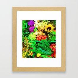 A Bountiful Harvest Framed Art Print