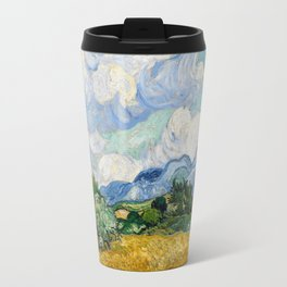 Vincent Van Gogh Wheat Field With Cypresses Travel Mug