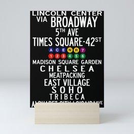 NYC Salsa Mini Art Print