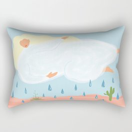 It's Cool to Be a Cloud Above the Desert Summer Abstract Minimalist Rectangular Pillow