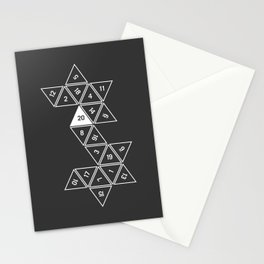 Unrolled D20 Stationery Cards