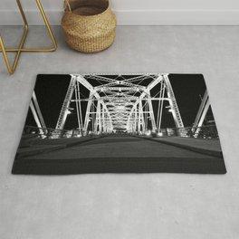 Shelby Street Bridge At Night Rug