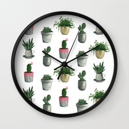 House Plants Wall Clock