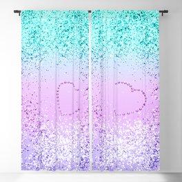 Sparkling UNICORN Girls Glitter Heart #9 #shiny #pastel #decor #art #society6 Blackout Curtain