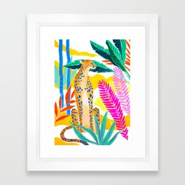 Panther in Jungle Framed Art Print