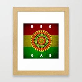Reggae Mandala Framed Art Print