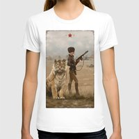 kittens T-shirts featuring 1920 - kittens by Jakub Rozalski