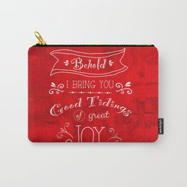 Tidings of Great Joy (red) by Jan Marvin Carry-All Pouch