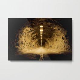 Late Hike Through Yosemite Tunnel Metal Print