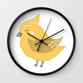 Yellow Birdie Wall Clock