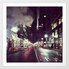 Manhattan Midtown at Night Art Print