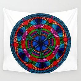 Mandala Flowers Wall Tapestry