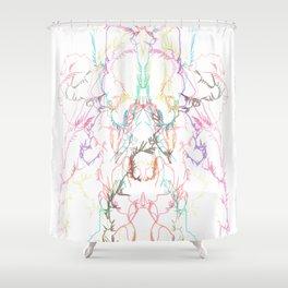 Exploading dancer Shower Curtain